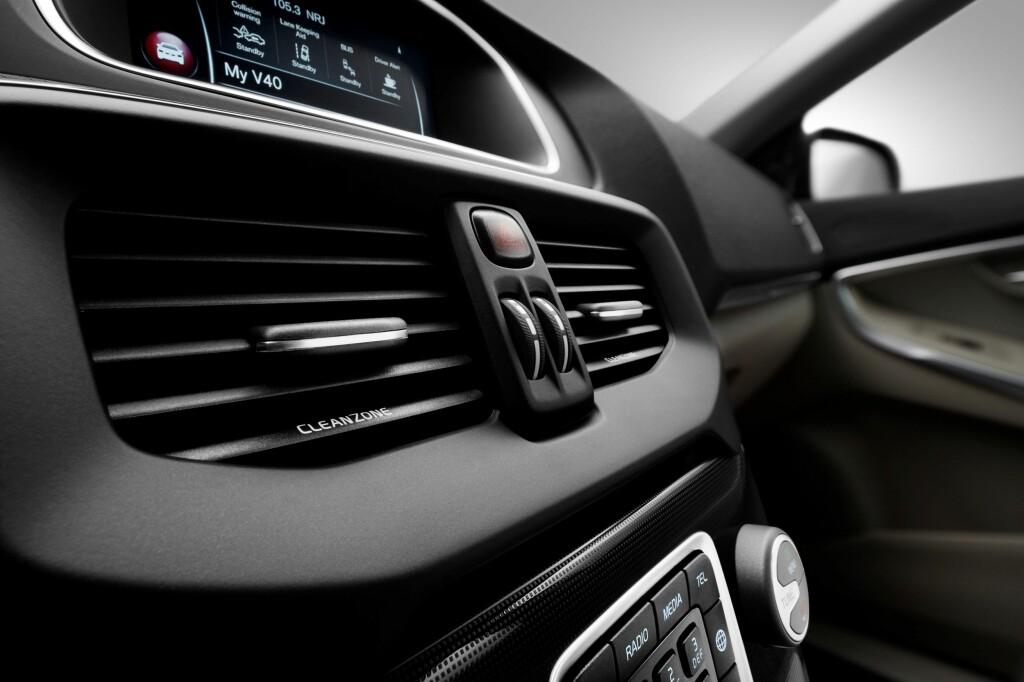 CLEAN ZONE: Volvo satser hardt på frisk luft i kupèen.  Foto: VOLVO