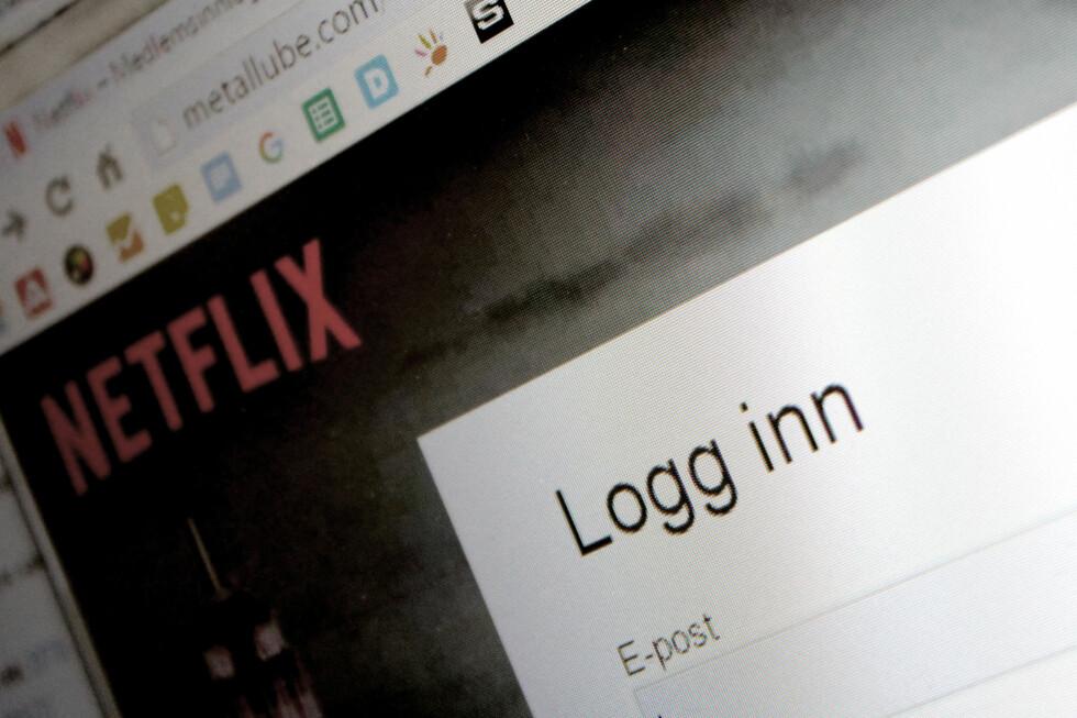 IKKE NETFLIX: Nettsida du blir sendt til skiller seg fra Netflix på mange områder, men ser likevel proff ut. Foto: OLE PETTER BAUGERØD STOKKE