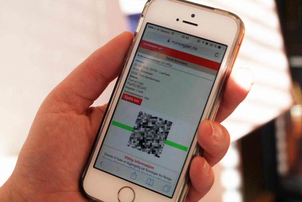 <b>FEILSENDT BILLETT:</b> Taster du inn feil mobilnummer når du bestiller billetter, risikerer du at den havner hos noen andre, som i vårt tilfelle.  Foto: BERIT B. NJARGA