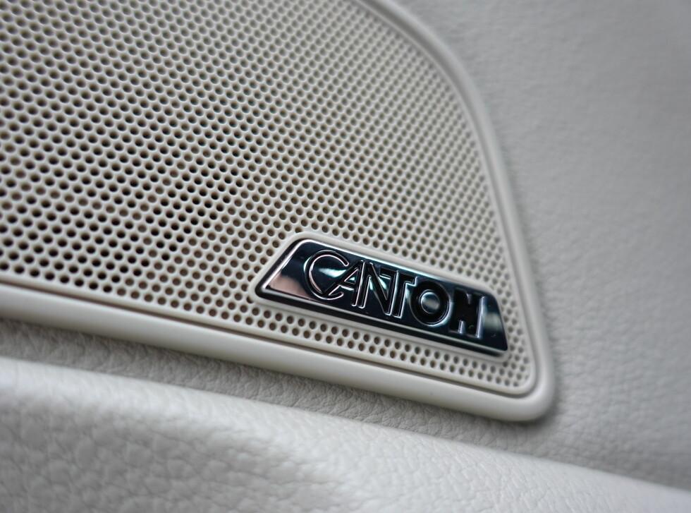 BRA LYD: Canton høres billig ut, men overrasker stort med 12 høyttalere og sub. Foto: RUNE M. NESHEIM