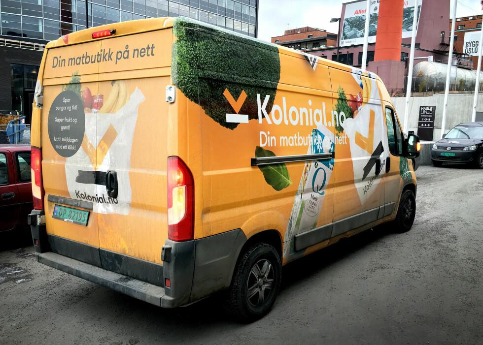 KOMMER UANSETT: Kolonial.no-bilen kan komme med varene dine uansett hvor mye du handler for.  Foto: OLE PETTER BAUGERØD STOKKE