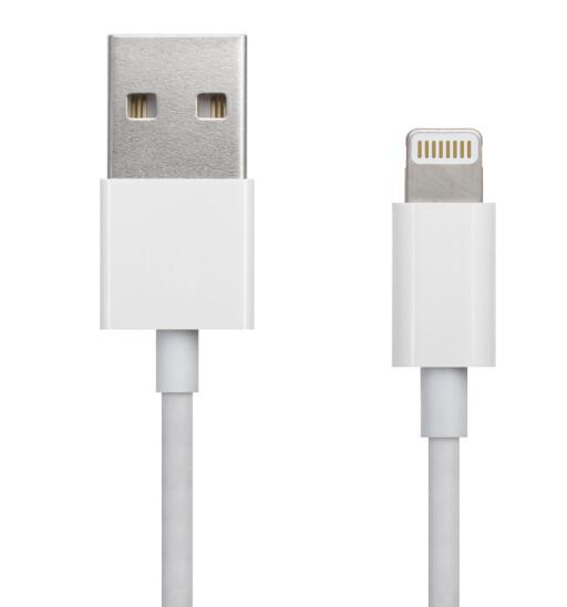HELDIGITALT: Apples Lightning-plugg kan komme til å bli eneste tilkobling til iPhone, skal vi tro ryktene. Foto: SERGEI KARDASHEV/SHUTTERSTOCK/NTB SCANPIX