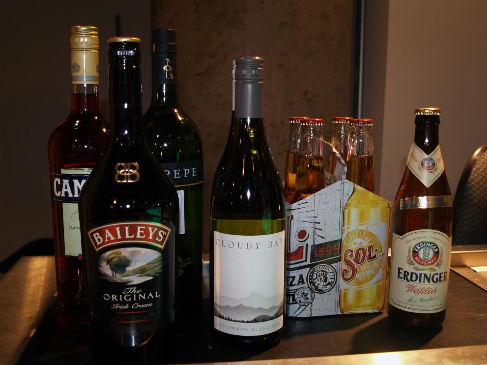 ER BAILEYS VIN? Ja, når du skal benytte vinkvota på taxfree, er alkohol med til og med 22 prosent alkohol regnet som vin, inkludert Baileys, Campari og en del annen likør. Foto: BERIT B. NJARGA