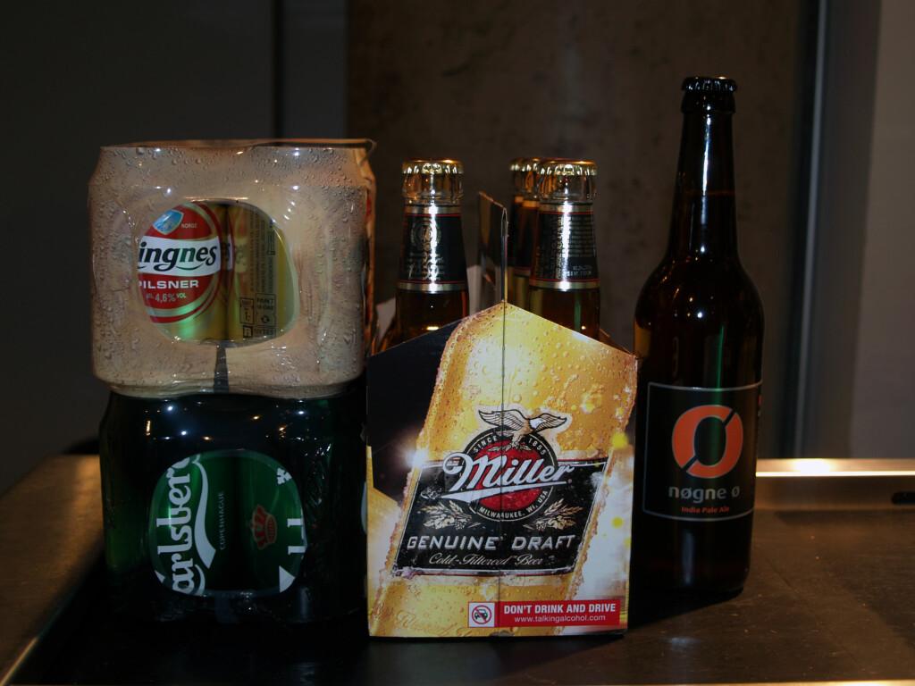 MAKS ØL-KVOTE: Er det kun øl som gjelder, er maksgrensa på 6,5 liter øl. Foto: BERIT B. NJARGA