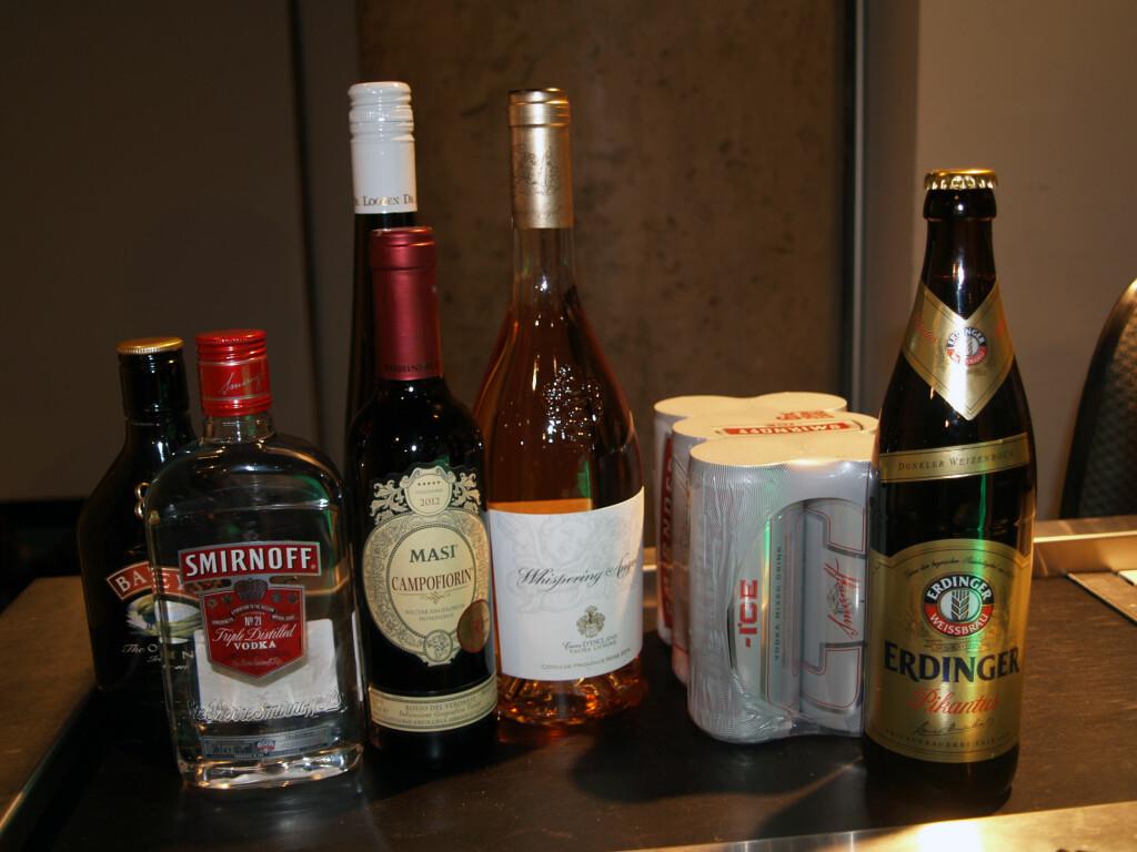 HALV LITER SPIRT: Vil du kun ha litt sprit på taxfree, kan du bytte den inn mot vin. Foto: BERIT B. NJARGA