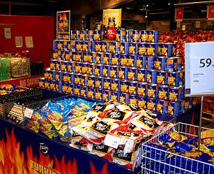 image: Hvor er godteri billigst: På taxfree eller i butikken?