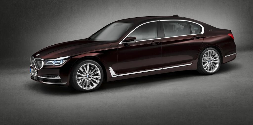 GEDIGEN: Lang, tung, mektig og tre kilo CO2 på mila - det er BMWs nye V12-flaggskip Foto: BMW