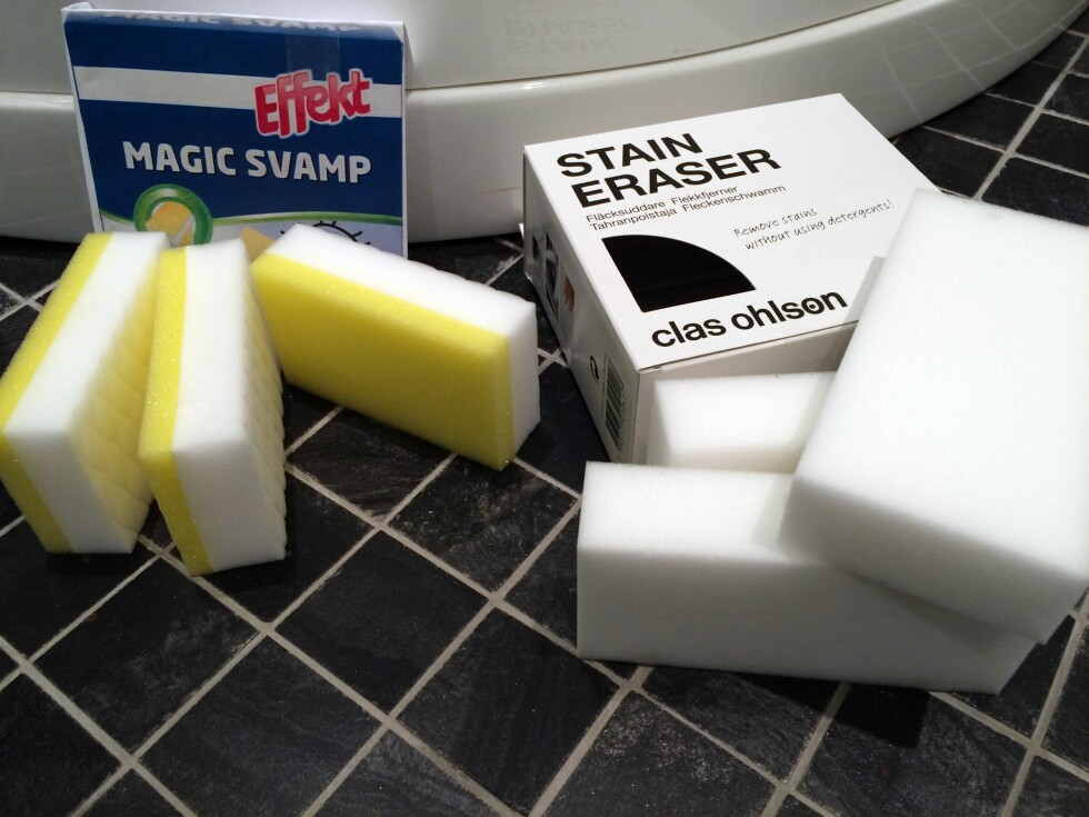 MAGISKE? De lover å fjerne vanskelige flekker uten vaskemidler, kun ved hjelp av vann. Foto: KRISTIN SØRDAL