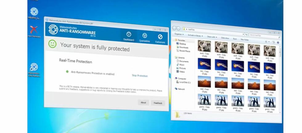 BESKYTTELSE: Malwarebytes har nå sluppet et eget anti-ransomware-program som skal beskytte Windows-maskiner mot ransomware. Foto: MALWAREBYTES