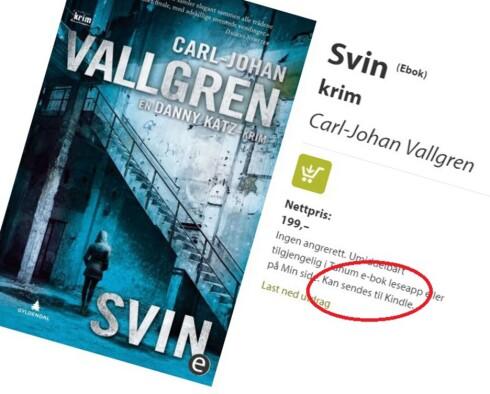 <strong><B>KINDLE-VENNLIG:</strong></B> Det er ikke noe problem å kjøpe norske e-bøker lenger.  Foto: TANUM