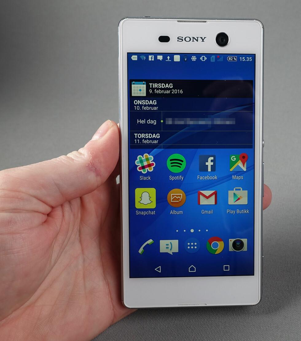 LITE FIKSFAKSERIER: Sony er blant produsentene som endrer minst på Android slik det kommer fra Google.