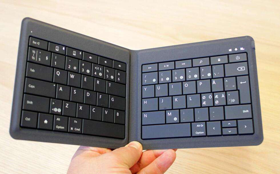BRETT OPP: Så får du et tastatur i full størrelse. Foto: BJØRN EIRIK LOFTÅS