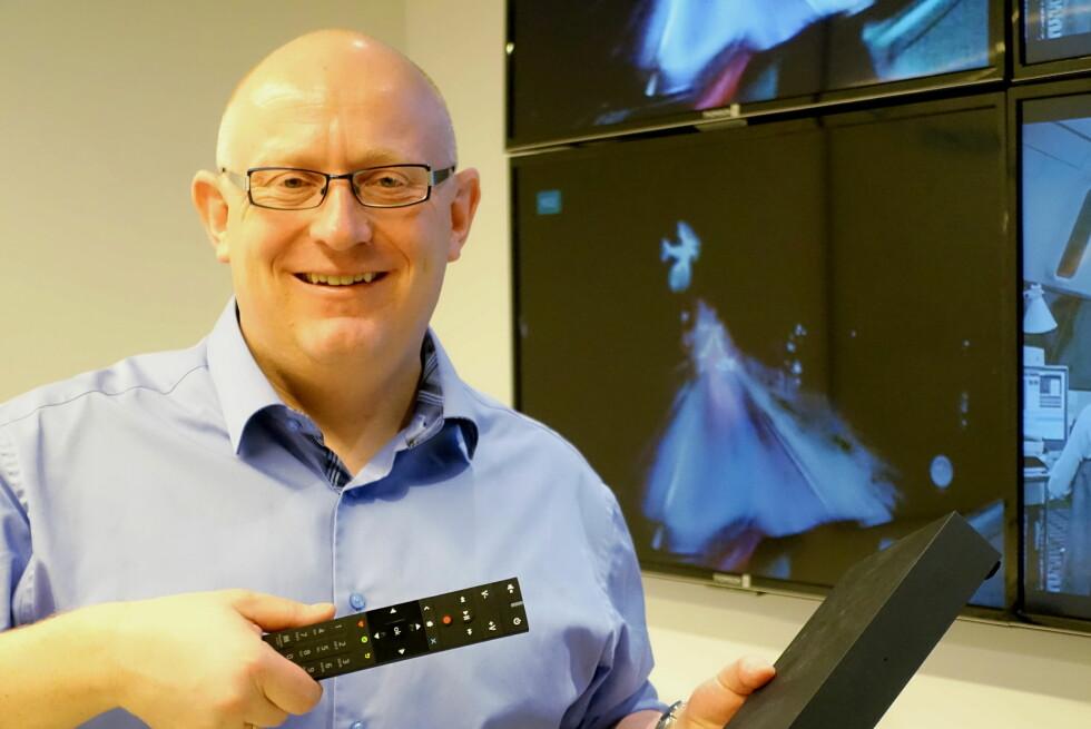 ENORM PÅGANG: Administrerende direktør Christian Birkeland i RiksTV er fornøyd med det uventede løftet. Foto: TORE NESET