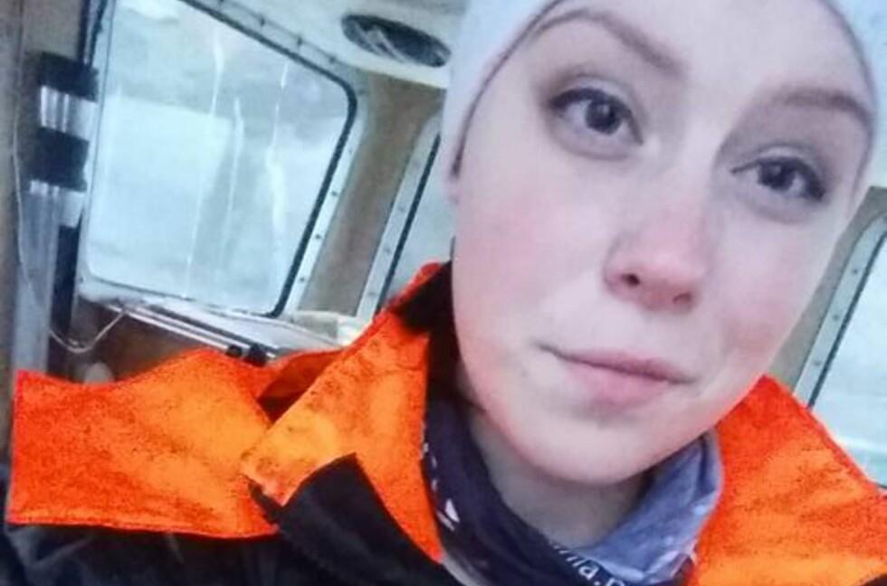 JOBBSØK VIA FACEBOOK: Christina Andersen har alltid drømt om å bli fisker. Nylig la hun ut en åpen søknad på Facebook. To døgn senere var den delt over 1.300 ganger.  Foto: PRIVAT