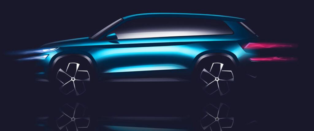 TRE ALTERNATIVER: Skoda Vision S er bare en av tre kommende SUV fra merket.   Foto: SKODA