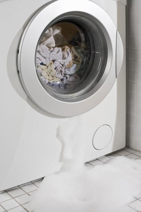 UFORUTSETT: Når vaskemaskinen går i stykker, er et fleksibelt lån fint å ha.