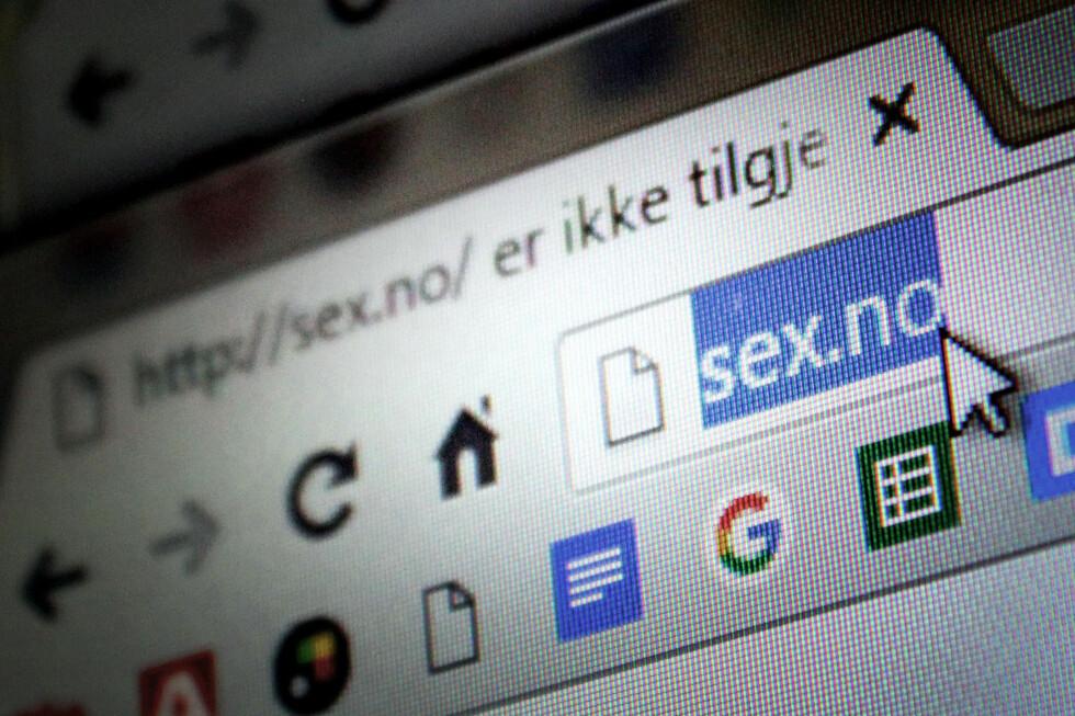 IKKE LOV: Domenet sex.no kan ikke registreres. Ikke porno.no heller, sammen med en hel rekke domener som enten er pornografiske eller injurerende. Foto: OLE PETTER BAUGERØD STOKKE