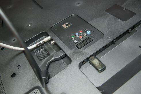 UNNGÅ Å BYTTE: Før du kjøper TV bør du finne ut av hvor mange HDMI- og USB-innganger du trenger. Foto: PER ERVLAND
