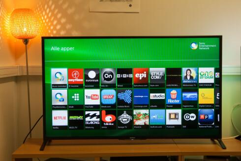 SMART-TV: Hvis du bruker Apple TV eller Chromecast er ikke Smart-TV nødvendig - selv om de fleste modeller har det innebygget.  Foto: PER ERVLAND