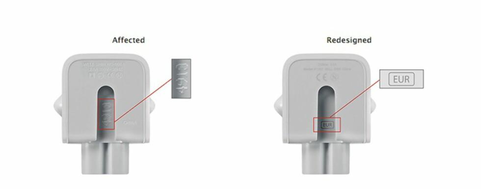 Apple tilbakekaller lade-adaptere