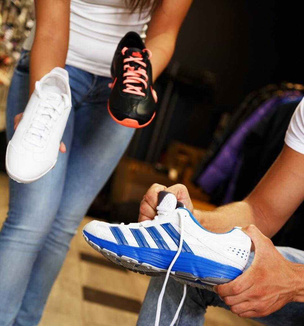 TRENGER DU ALLE? En sko til hvert formål? ELler kunne du kanskje brukt løpeskoa også til søndagsturbruk? Foto: NEJRON PHOTO/SHUTTERSTOCK/NTB SCANPIX