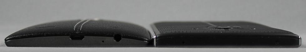SLANKERE: LG har slanket V10 over en millimeter kontra G4 (til venstre). Foto: PÅL JOAKIM OLSEN