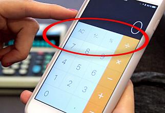Slik regner du prosent med iPhones kalkulator