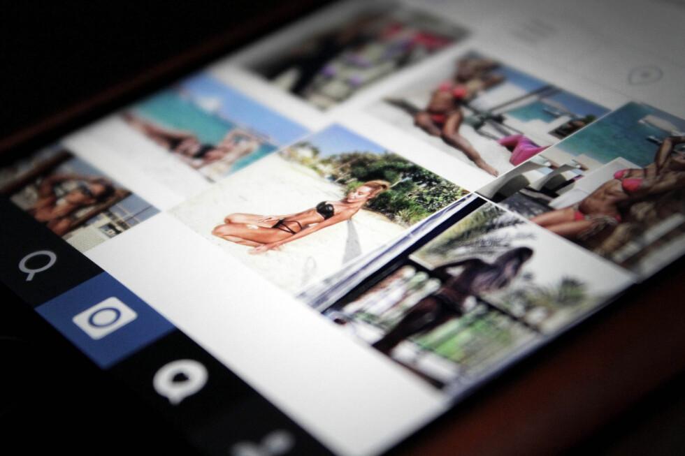 FALSK: Nei, en vakker kvinne har ikke plutselig likt bildene dine eller begynt å følge kontoen din. Det dreier seg om falske Instagram-brukere som har tvilsomme motiver. Foto: OLE PETTER BAUGERØD STOKKE