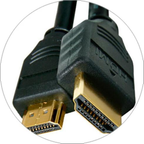 DET ENKLE …: Både lyd og bilde følger med om du kobler PC-en til en TV med HDMI-kabel.
