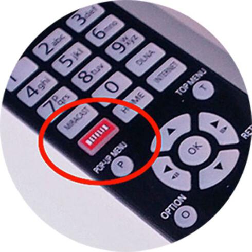 EGEN KNAPP: Mange nye TV-er har nå en egen Netflix-knapp på fjernkontrollen.