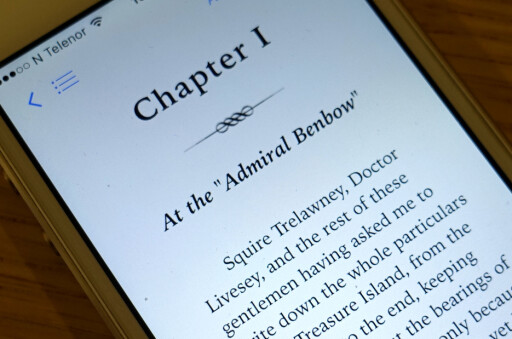 BARE PÅ APPLE: E-bøker kjøpt via iTunes kan ikke leses på andre telefoner og nettbrett. Foto: TORE NESET