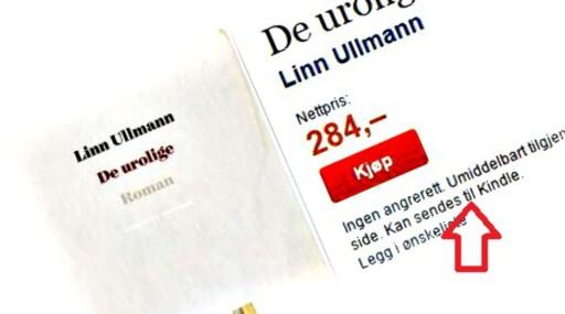 NORSK OG ÅPEN: E-bøker fra de norske forlagene kan enkelt sendes til din Kindle-leser. Foto: TANUM
