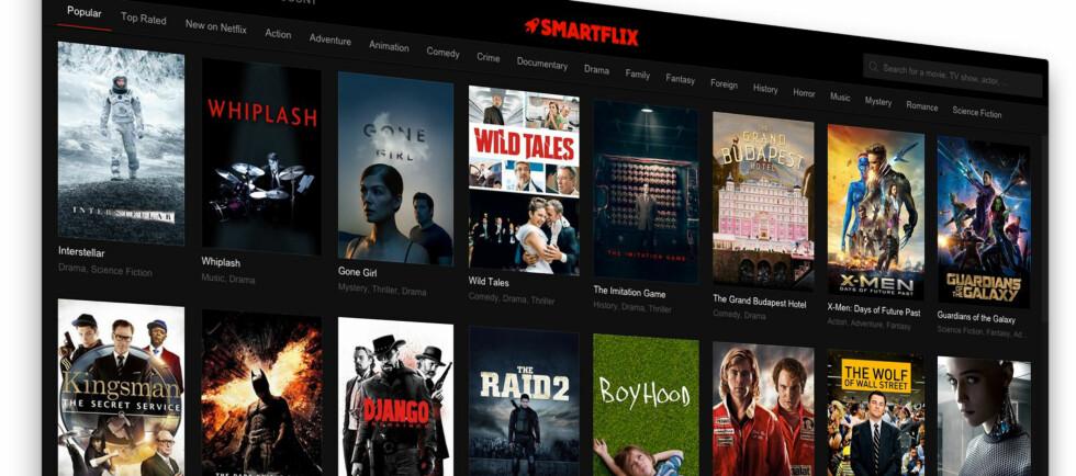 GIR DEG ALT: Smartflix sørger for å justere nettverksinnstillingene automatisk slik at du kan spille av ALT globalt innhold fra Netflix. Foto: PÅL JOAKIM OLSEN