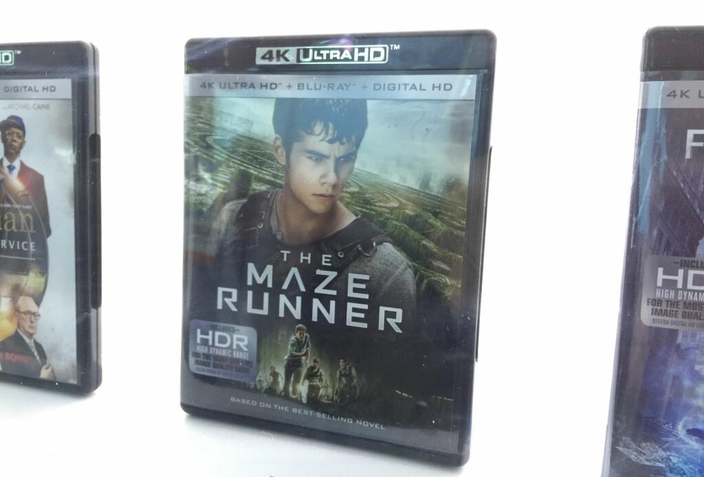 Slik ser omslaget på UHD Blu-ray-filmene ut. Foto: BJØRN EIRIK LOFTÅS