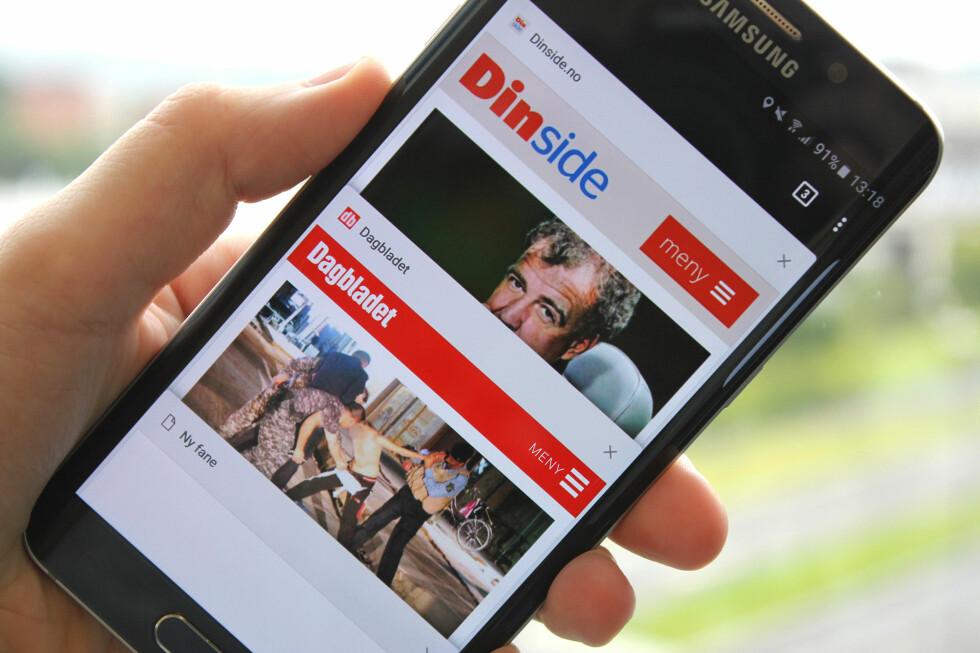 POPULÆR: Googles nettleser har mange brukere på mobil. Men hvor mange av dem har lært seg alle de lure triksene? Foto: KIRSTI ØSTVANG