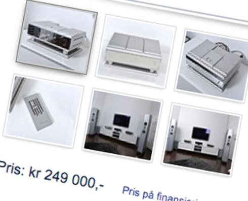 HEFTIG: Selv om den er 186.990 kroner billigere enn ny, skal det feit lommebok til for å sikre seg en Burmester 069. Foto: FINN.NO