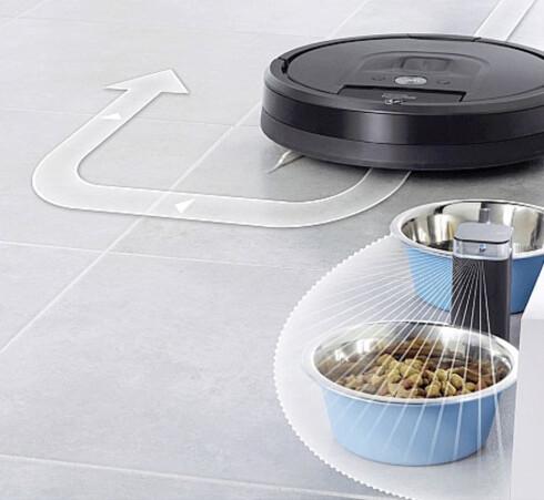 <b>Nye rom-adskillere</b>. De har blitt langt mindre enn før, og kan enten hindre Roombaen å gå inn på ulike rom, eller til å svinge utenom visse hindere. (Batterier følger med.) Foto: IROBOT
