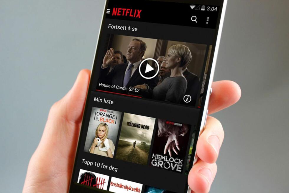 SKAL BRUKE MINDRE DATA: Netflix skal rekomprimere hele biblioteket sitt. Foto: Dinside