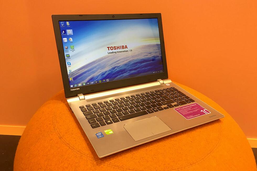FIN MASKIN MED GOD SKJERM: Toshiba P50-C-129 er både lett og byr på god ytelse. Foto: BJØRN EIRIK LOFTÅS
