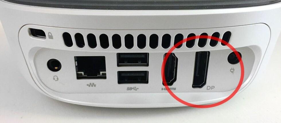 <B>FØRSTEVALGET</B>: DisplayPort er den optimale kontakten for deg som ønsker å koble PC-en din til en 4K-skjerm Foto: BJØRN EIRIK LOFTÅS