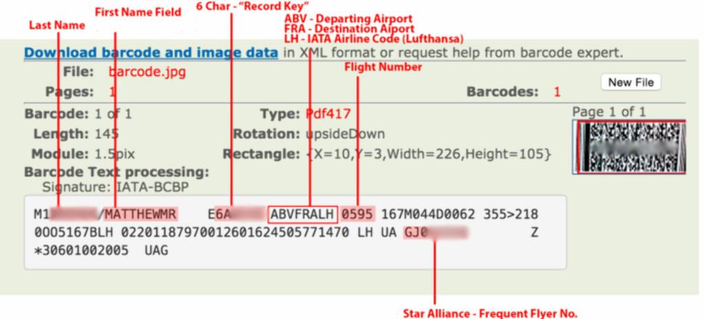 OPPLYSNINGER: Svært mye kan leses ut av ombordstigningskortet. Foto: KREBSONSECURITY