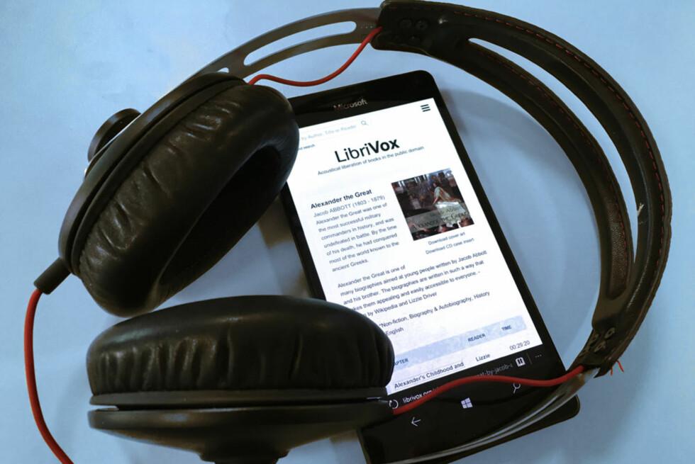 HELT GRATIS: LibriVox er en av tjenestene som tilbyr lydbøker helt uten kostnad. Foto: BJØRN EIRIK LOFTÅS