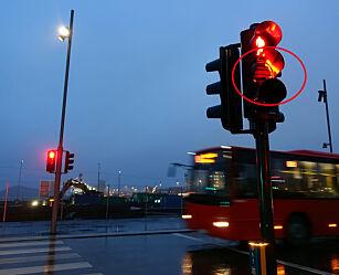 image: Trafikklysene som ikke virker