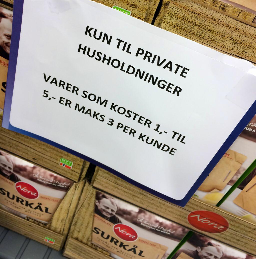 PASS PÅ PRISKRIGEN! Pass på hvor du kjøper hva: Priskrig-varene får du ikke billigere enn i Norge akkurat nå! Foto: KRISTIN SØRDAL