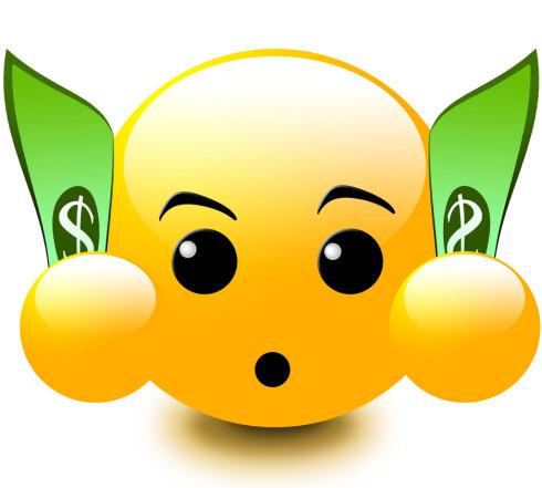<strong><b>KOSTBART:</strong> </B>Grafiske smilefjes, «emotikoner», gjør at du får enda mindre å gå på per SMS, og kan gjøre lange tekstmeldinger enda dyrere. Foto: SHUTTERSTOCK / NTB SCANPIX