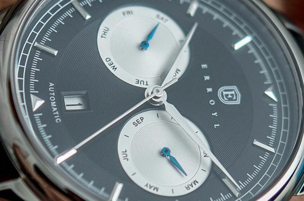 KLASSISK OG MEKANISK: Australske Erroyl leverer selvtrekkende luksus-ur til hyggelige priser. Foto: ERROYL
