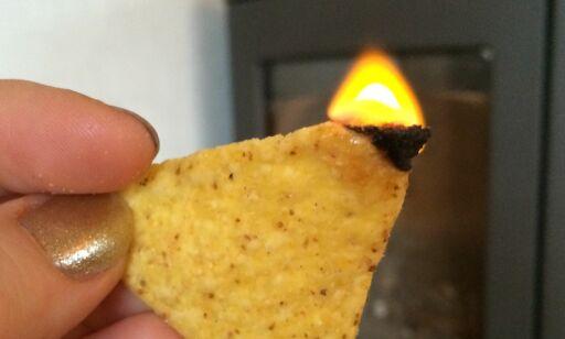 image: Hvordan tenne opp i peisen med tortilla-chips!