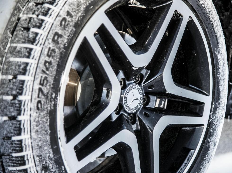 VELLYKKET STYLING: 21 tommers felger fra AMG kler bilen godt og gjør ikke kjøreegenskaper til GLS mindre behagelig. Foto: JAMIESON POTHECARY