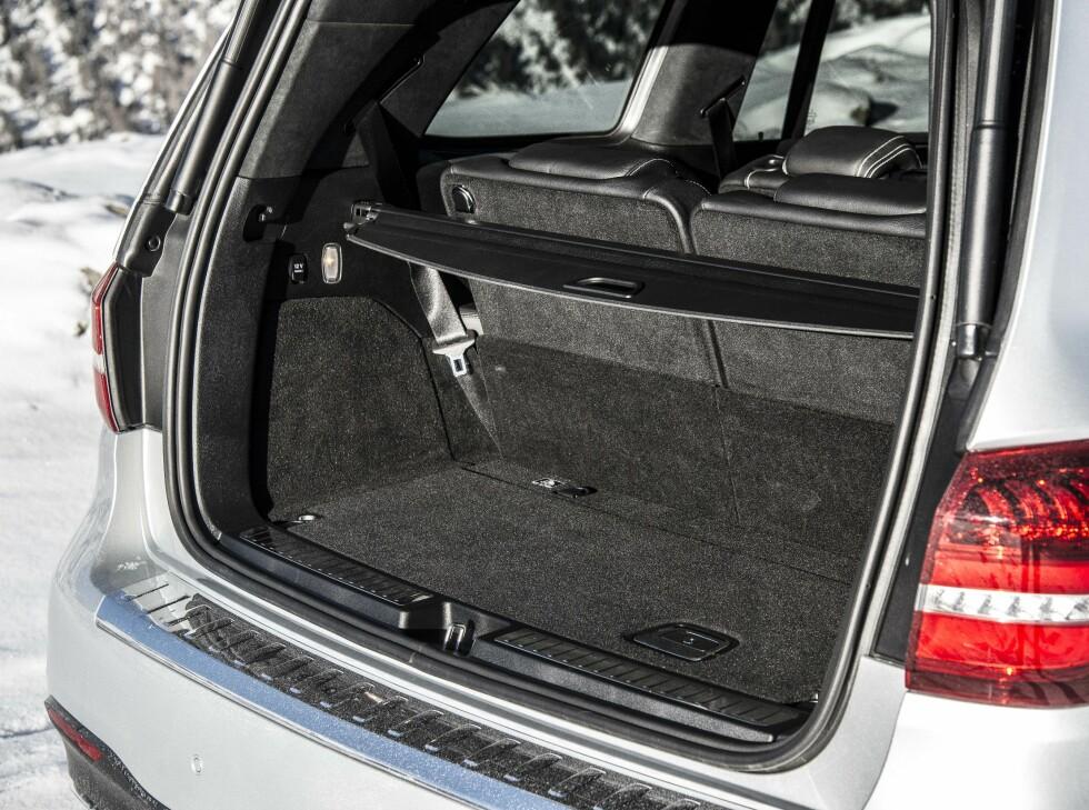 LITE PLASS: Med tredje seterad i bruk er det lite plass til bagasje. Foto: JAMIESON POTHECARY