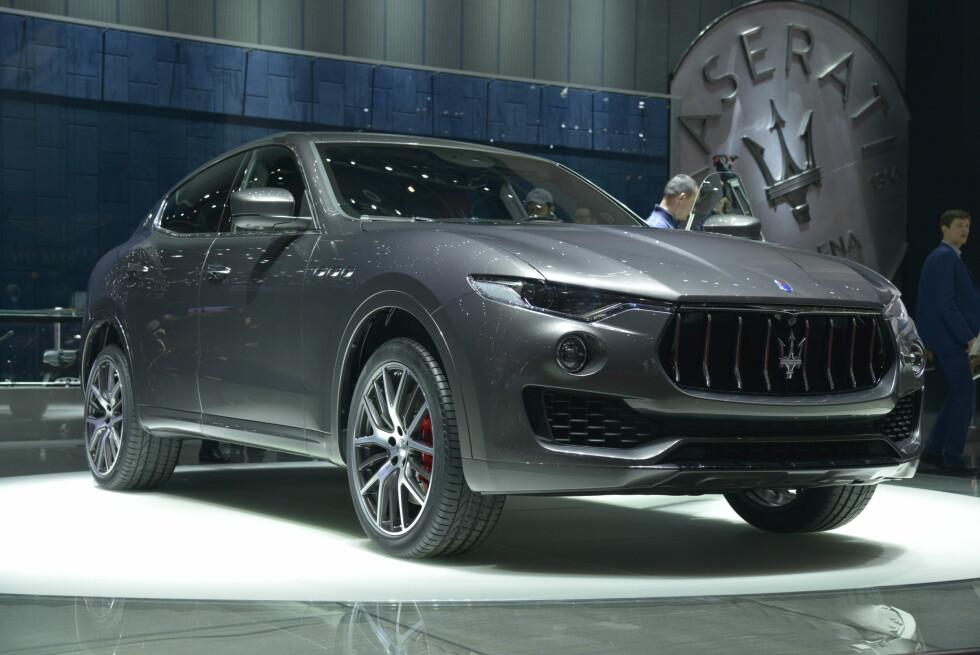 LEVANTE: Det er navnet på Maserati-SUV-en som står på messen i Genève. Samtidig som Jaguar avduker sin SUV, F-Pace, i endelig versjon og gjenfødte Borgward gjør nok et fremstøt i premium-SUV-segmentet. Foto: JAMIESON POTHECARY